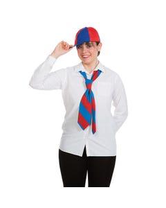 Schoolboy Tie Red & Blue