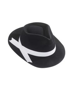 Budget Gangster Hat With White Ribbon