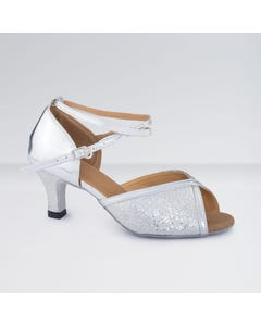 1st Position PU Buckle Fastening Glitter Ballroom Shoes
