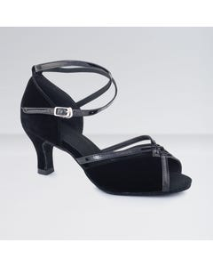 1st Position Nubuck Flared Heel Ballroom Shoes