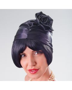 Cloche Ruched Hat Metallic