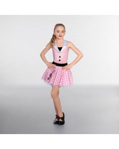1st Position Pink/White Halterneck Dotty Music Dress