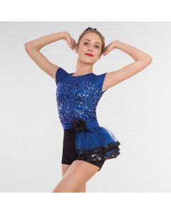 1st Position Sequin Glitz Unitard with Side Tutu Skirt