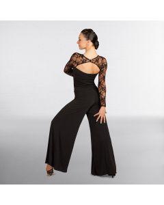 Capezio Dancesport Long Sleeved Lace Top