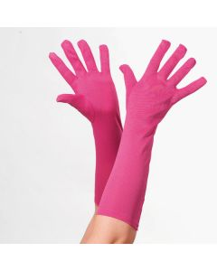 Neon Pink Long Gloves