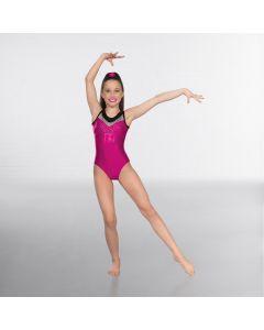 1st Position Premium Diamante Sleeveless Gymnastic Leotard