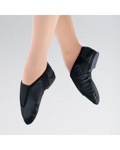 1st Position Stretch Leather Front Gusset Flex Jazz Shoe