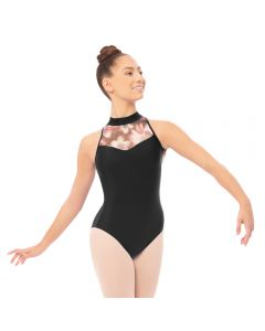 Plume Floral High Neck Leotard