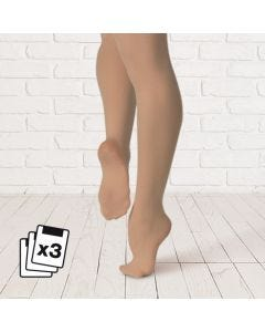 Plume 3pk Footed Tights