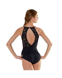 Plume Camisole Lace Panel Keyhole Back Leotard