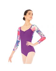 Plume Floral Long Sleeve Leotard