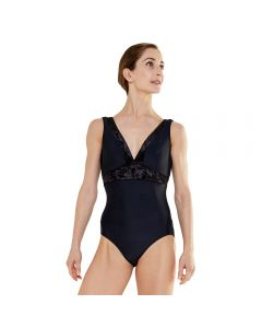 Plume Velvet Collection V Neck Leotard