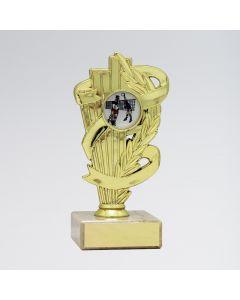 Laurel Leaf Ribbon Trophy