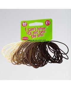 60 Mixed Brown/Blonde Hair Elastics
