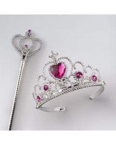 Tiara Pink Stone with Crown Wand