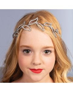 Diamante Leaf Headband