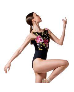 Dansez Velvet Floral Leotard