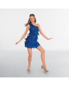 Royal Blue Sequin Flapper Dress Adult One Size