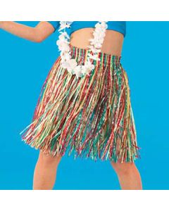 Hawaiian Grass Skirt (Adult One Size) Length 55cm