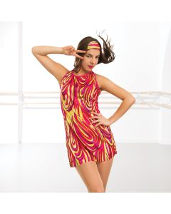 Psychedelic Mini Dress (Adult One Size)