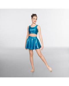 1st Position Metallic Circular Skirt Turquoise
