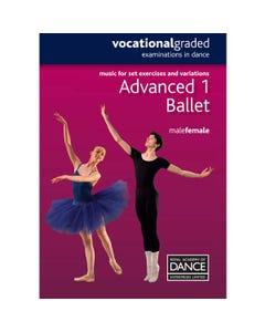 RAD Advanced 1 Male/Female Ballet Music Book